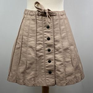 Free People Women's Button Front Mini Skirt